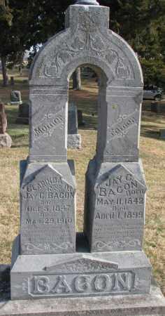 BACON, CLARINDA - Burt County, Nebraska | CLARINDA BACON - Nebraska Gravestone Photos