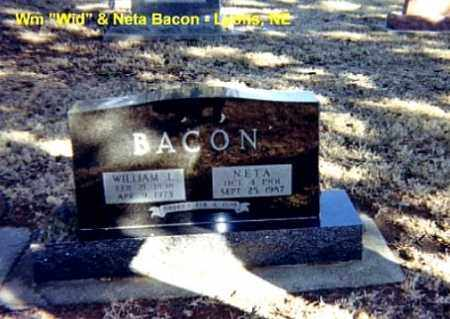 BACON, NETA - Burt County, Nebraska | NETA BACON - Nebraska Gravestone Photos