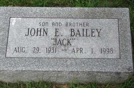"BAILEY, JOHN E. ""JACK"" - Burt County, Nebraska | JOHN E. ""JACK"" BAILEY - Nebraska Gravestone Photos"