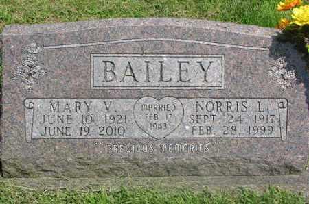 BAILEY, NORRIS L. - Burt County, Nebraska | NORRIS L. BAILEY - Nebraska Gravestone Photos