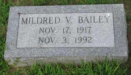 BAILEY, MILDRED V. - Burt County, Nebraska   MILDRED V. BAILEY - Nebraska Gravestone Photos