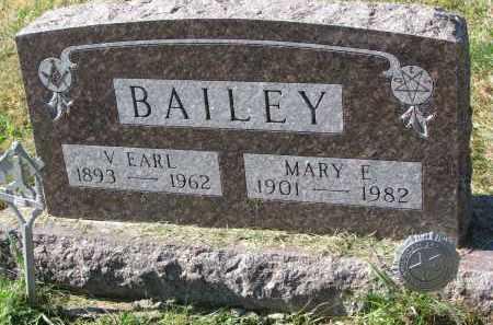BAILEY, V. EARL - Burt County, Nebraska   V. EARL BAILEY - Nebraska Gravestone Photos