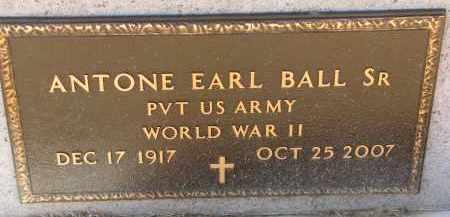 BALL, ANTONE EARL SR. (WW II) - Burt County, Nebraska | ANTONE EARL SR. (WW II) BALL - Nebraska Gravestone Photos