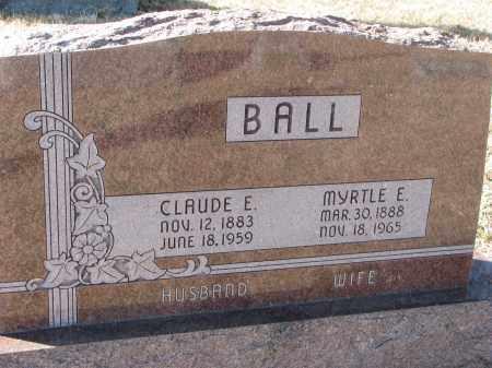 BALL, CLAUDE E. - Burt County, Nebraska | CLAUDE E. BALL - Nebraska Gravestone Photos