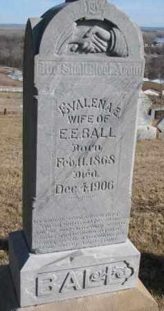 BALL, EVALENA E. - Burt County, Nebraska   EVALENA E. BALL - Nebraska Gravestone Photos
