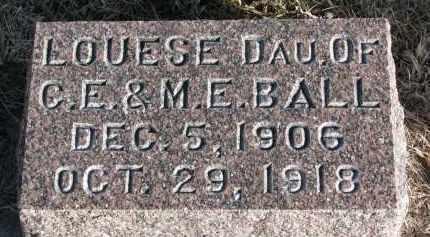 BALL, LOUESE - Burt County, Nebraska | LOUESE BALL - Nebraska Gravestone Photos