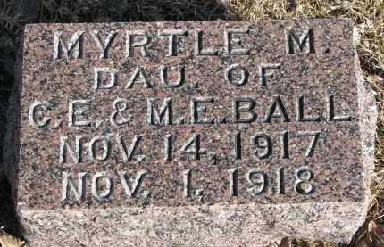 BALL, MYRTLE M. - Burt County, Nebraska   MYRTLE M. BALL - Nebraska Gravestone Photos