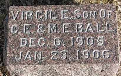 BALL, VIRGIL E. - Burt County, Nebraska | VIRGIL E. BALL - Nebraska Gravestone Photos