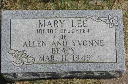 BEATY, MARY LEE - Burt County, Nebraska | MARY LEE BEATY - Nebraska Gravestone Photos