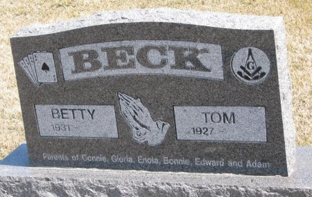BECK, TOM - Burt County, Nebraska | TOM BECK - Nebraska Gravestone Photos