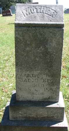BECK, CAROLINE - Burt County, Nebraska   CAROLINE BECK - Nebraska Gravestone Photos
