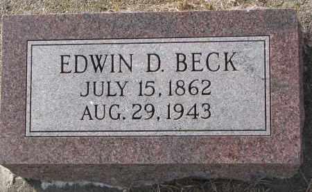 BECK, EDWIN D. - Burt County, Nebraska | EDWIN D. BECK - Nebraska Gravestone Photos