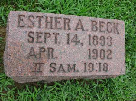 BECK, ESTHER A. - Burt County, Nebraska | ESTHER A. BECK - Nebraska Gravestone Photos