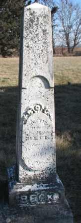 BECK, NETTIE - Burt County, Nebraska | NETTIE BECK - Nebraska Gravestone Photos