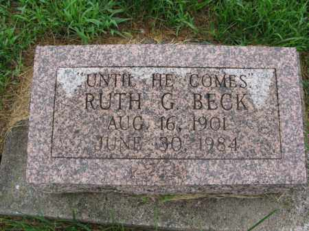 BECK, RUTH G. - Burt County, Nebraska | RUTH G. BECK - Nebraska Gravestone Photos