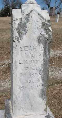 BEEBEE, LEAH E. - Burt County, Nebraska | LEAH E. BEEBEE - Nebraska Gravestone Photos