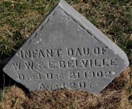BELVILLE, INFANT DAUGHTER - Burt County, Nebraska | INFANT DAUGHTER BELVILLE - Nebraska Gravestone Photos