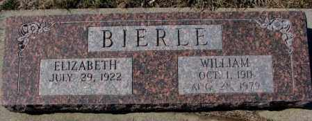 BIERLE, ELIZABETH - Burt County, Nebraska | ELIZABETH BIERLE - Nebraska Gravestone Photos