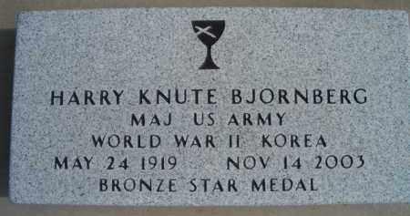 BJORNBERG, HARRY KNUTE (MILITARY MARKER) - Burt County, Nebraska   HARRY KNUTE (MILITARY MARKER) BJORNBERG - Nebraska Gravestone Photos