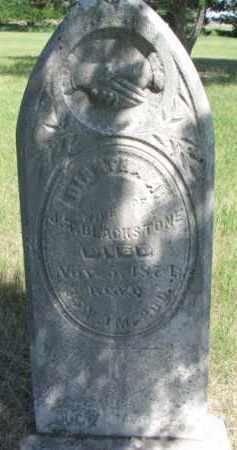 BLACKSTONE, DIANTHA A. - Burt County, Nebraska | DIANTHA A. BLACKSTONE - Nebraska Gravestone Photos