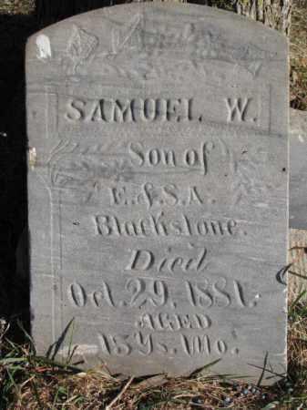 BLACKSTONE, SAMUEL W. - Burt County, Nebraska   SAMUEL W. BLACKSTONE - Nebraska Gravestone Photos