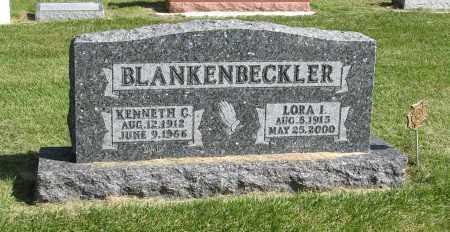 BLANKENBECKLER, LORA I. - Burt County, Nebraska | LORA I. BLANKENBECKLER - Nebraska Gravestone Photos