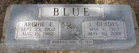 BLUE, ARCHIE E. - Burt County, Nebraska | ARCHIE E. BLUE - Nebraska Gravestone Photos