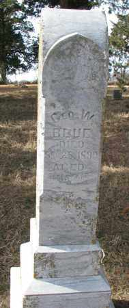 BLUE, GEO. W. - Burt County, Nebraska | GEO. W. BLUE - Nebraska Gravestone Photos