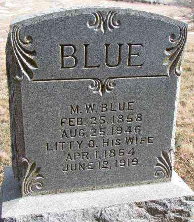 BLUE, MADISON WRIGHT - Burt County, Nebraska | MADISON WRIGHT BLUE - Nebraska Gravestone Photos