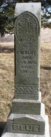 BLUE, MARY J.G. - Burt County, Nebraska | MARY J.G. BLUE - Nebraska Gravestone Photos