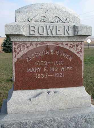 BOWEN, MARY E. - Burt County, Nebraska | MARY E. BOWEN - Nebraska Gravestone Photos