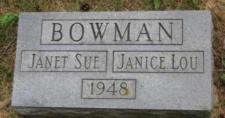 BOWMAN, JANET SUE - Burt County, Nebraska   JANET SUE BOWMAN - Nebraska Gravestone Photos