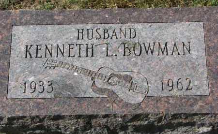 BOWMAN, KENNETH L. - Burt County, Nebraska | KENNETH L. BOWMAN - Nebraska Gravestone Photos
