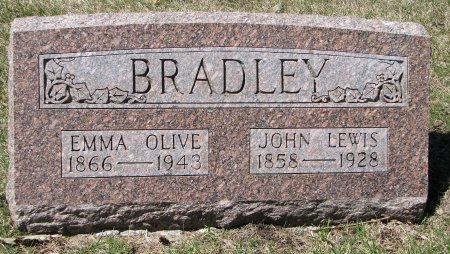 BRADLEY, EMMA OLIVE - Burt County, Nebraska   EMMA OLIVE BRADLEY - Nebraska Gravestone Photos