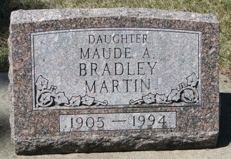 MARTIN BRADLEY, MAUDE A. - Burt County, Nebraska   MAUDE A. MARTIN BRADLEY - Nebraska Gravestone Photos