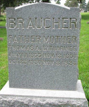 BRAUCHER, CATHERINE E. - Burt County, Nebraska   CATHERINE E. BRAUCHER - Nebraska Gravestone Photos