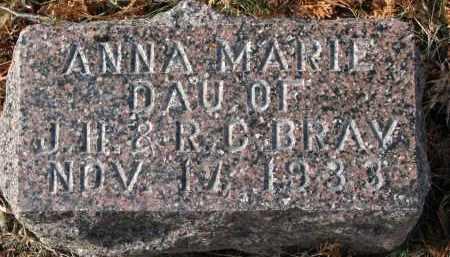 BRAY, ANNA MARIE - Burt County, Nebraska   ANNA MARIE BRAY - Nebraska Gravestone Photos
