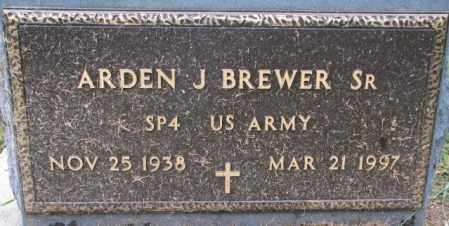 BREWER, ARDEN J. SR. (MILITARY) - Burt County, Nebraska | ARDEN J. SR. (MILITARY) BREWER - Nebraska Gravestone Photos