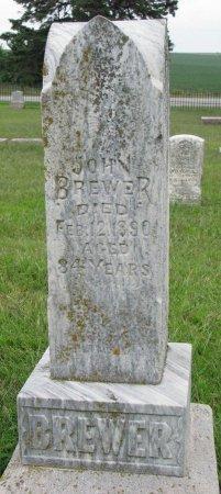 BREWER, JOHN - Burt County, Nebraska | JOHN BREWER - Nebraska Gravestone Photos