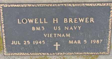 BREWER, LOWELL H. (MILITARY) - Burt County, Nebraska | LOWELL H. (MILITARY) BREWER - Nebraska Gravestone Photos