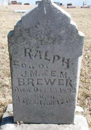 BREWER, RALPH - Burt County, Nebraska | RALPH BREWER - Nebraska Gravestone Photos