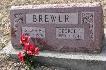 BREWER, SELMA E. - Burt County, Nebraska | SELMA E. BREWER - Nebraska Gravestone Photos