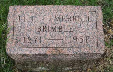 BRIMBLE, LILLIE - Burt County, Nebraska | LILLIE BRIMBLE - Nebraska Gravestone Photos