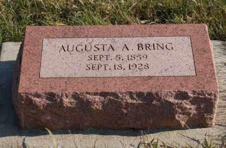 BRING, AUGUSTA A. - Burt County, Nebraska | AUGUSTA A. BRING - Nebraska Gravestone Photos