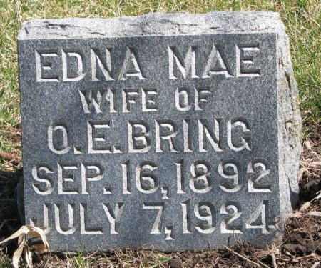 BRING, EDNA MAE - Burt County, Nebraska   EDNA MAE BRING - Nebraska Gravestone Photos