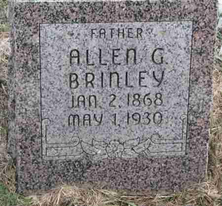 BRINLEY, ALLEN G. - Burt County, Nebraska | ALLEN G. BRINLEY - Nebraska Gravestone Photos