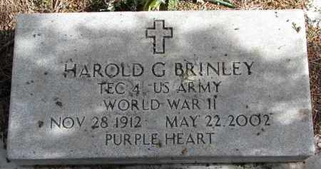 BRINLEY, HAROLD G. - Burt County, Nebraska | HAROLD G. BRINLEY - Nebraska Gravestone Photos