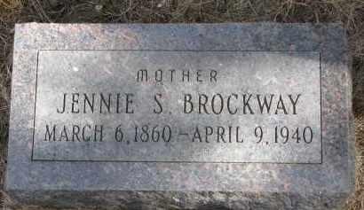 BROCKWAY, JENNIE S. - Burt County, Nebraska | JENNIE S. BROCKWAY - Nebraska Gravestone Photos
