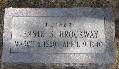 BROCKWAY, JENNIE S. - Burt County, Nebraska | JENNIE S. BROCKWAY - Nebraska Gravestone Photos