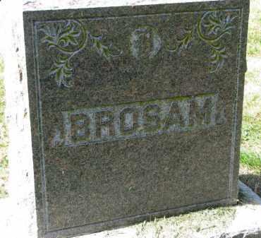 BROSAM, FAMILY STONE - Burt County, Nebraska | FAMILY STONE BROSAM - Nebraska Gravestone Photos